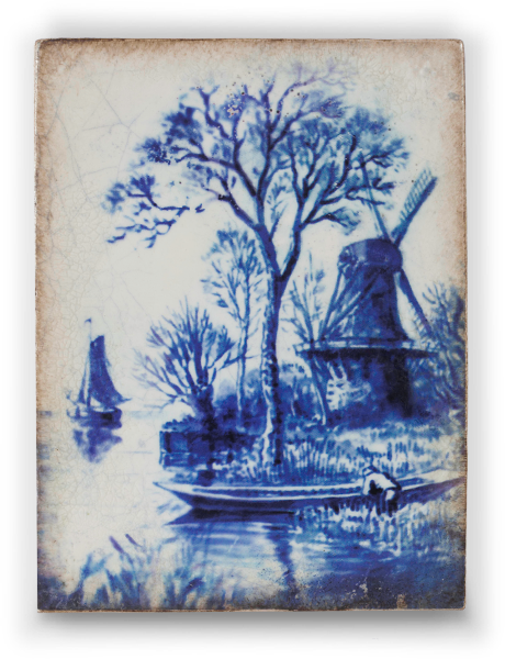 Sid Dickens Tile Delft Blue