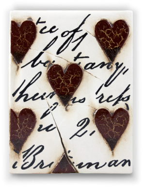 Sid Dickens Tile Red Hearts With Script