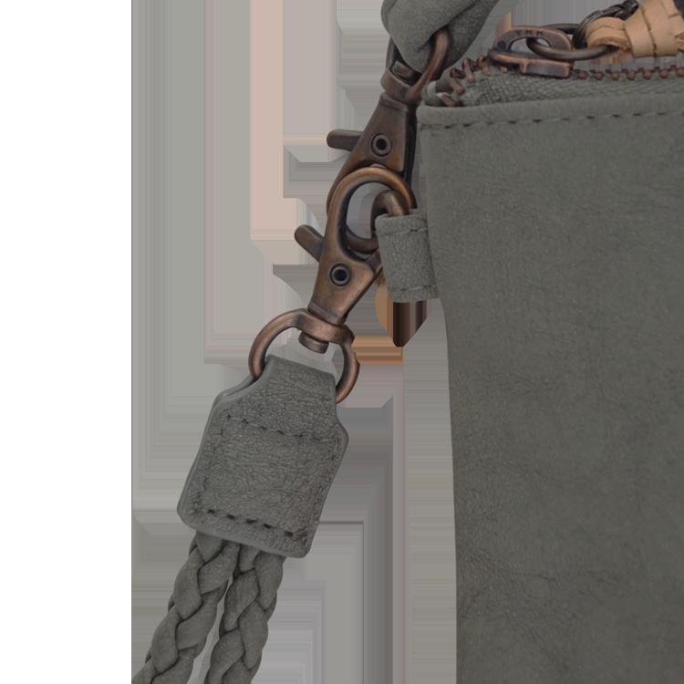 Zusss Eenvoudige Tas S Middengrijs Detail3