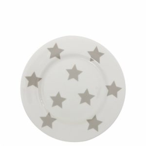 Dessert Plate White Titane Stars Bastion Collections