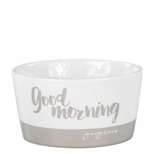 Bastion Collections Bowl White Goodmorning Titane