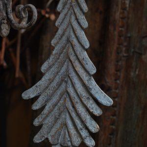 PTMD Kerstboom Hout Blauw Groen Goud M